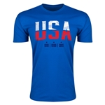 USA WWC Champions Men's Fashion T-Shirt (Royal)