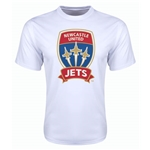 Newcastle Jets Poly T-Shirt (White)