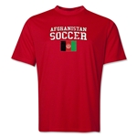 Afghanistan Soccer Training T-Shirt (Red)