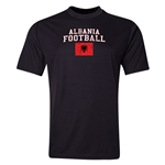 Albania Football Training T-Shirt (Black)