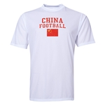 China Football Training T-Shirt (White)