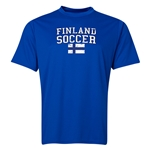 Finland Soccer Training T-Shirt (Royal)
