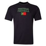 Portugal Football Training T-Shirt (Black)