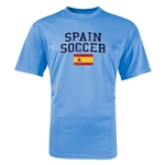 Spain Soccer Training T-Shirt (Sky)