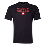 Switzerland Soccer Training T-Shirt (Black)