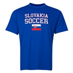 Slovakia Soccer Training T-Shirt (Royal)