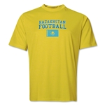 Kazakhstan Football Training T-Shirt (Yellow)