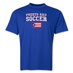 Puerto Rico Soccer Training T-Shirt (Royal)