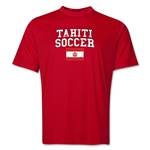 Tahiti Soccer Training T-Shirt (Red)