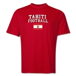 Tahiti Football Training T-Shirt (Red)