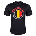 Belgium Euro 2016 Flag Training T-Shirt (Black)