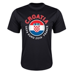 Croatia Euro 2016 Flag Training T-Shirt (Black)