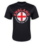 England Euro 2016 Flag Training T-Shirt (Black)