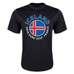 Iceland Euro 2016 Flag Training T-Shirt (Black)