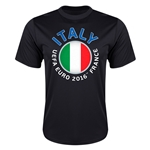 Italy Euro 2016 Flag Training T-Shirt (Black)