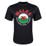 Wales Euro 2016 Flag Training T-Shirt (Black)