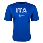 Italy Euro 2016 Elements Training T-Shirt (Royal)