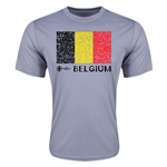 Belgium Euro 2016 Elemental Flag Training T-Shirt (Grey)