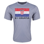 Croatia Euro 2016 Elemental Flag Training T-Shirt (Grey)