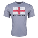 England Euro 2016 Elemental Flag Training T-Shirt (Grey)