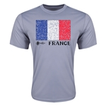 France Euro 2016 Elemental Flag Training T-Shirt (Grey)
