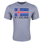 Iceland Euro 2016 Elemental Flag Training T-Shirt (Grey)