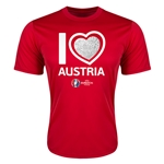 Austria Euro 2016 Heart Training T-Shirt (Red)