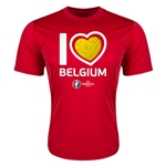 Belgium Euro 2016 Heart Training T-Shirt (Red)
