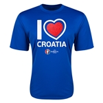 Croatia Euro 2016 Heart Training T-Shirt (Royal)