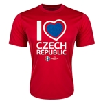 Czech Republic Euro 2016 Heart Training T-Shirt (Red)