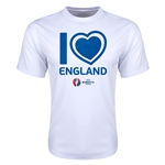 England Euro 2016 Heart Training T-Shirt (White)