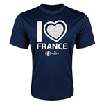 France Euro 2016 Heart Training T-Shirt (Navy)