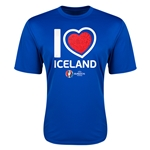 Iceland Euro 2016 Heart Training T-Shirt (Royal)