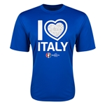 Italy Euro 2016 Heart Training T-Shirt (Royal)