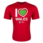 Wales Euro 2016 Heart Training T-Shirt (Red)