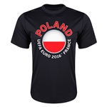 Poland Euro 2016 Flag Training T-Shirt (Black)