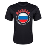 Russia Euro 2016 Flag Training T-Shirt (Black)