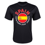Spain Euro 2016 Flag Training T-Shirt (Black)