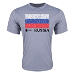 Russia Euro 2016 Elemental Flag Training T-Shirt (Grey)