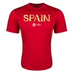 Spain Euro 2016 Core Training T-Shirt (Red)