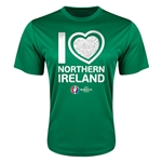Northern Ireland Euro 2016 Heart Training T-Shirt (Green)