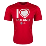 Poland Euro 2016 Heart Training T-Shirt (Red)