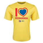 Romania Euro 2016 Heart Training T-Shirt (Yellow)