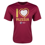 Russia Euro 2016 Heart Training T-Shirt (Maroon)