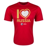 Russia Euro 2016 Heart Training T-Shirt (Red)