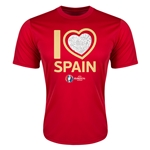 Spain Euro 2016 Heart Training T-Shirt (Red)