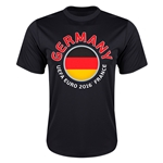 Germany Euro 2016 Flag Training T-Shirt (Black)