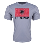 Albania Euro 2016 Elemental Flag Training T-Shirt (Grey)