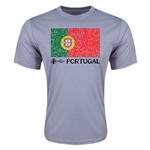 Portugal Euro 2016 Elemental Flag Training T-Shirt (Grey)
