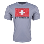 Switzerland Euro 2016 Elemental Flag Training T-Shirt (Grey)